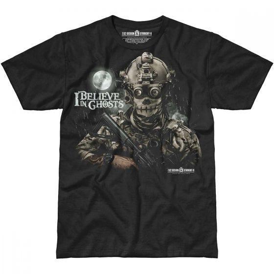 7.62 Design I Believe In Ghosts T-Shirt Black