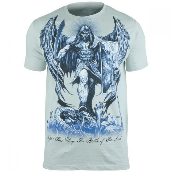7.62 Design St Michael Fight This Day T-Shirt Pewter