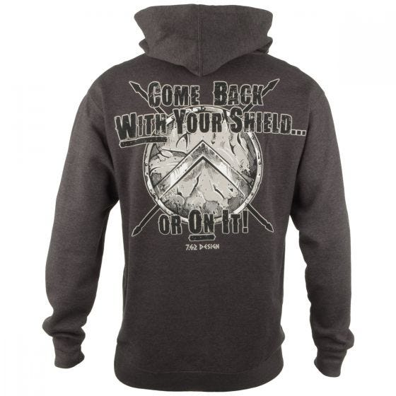 7.62 Design With Your Shield Hoodie Charcoal Heather