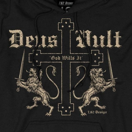 7.62 Design Deus Vult Hoodie Black