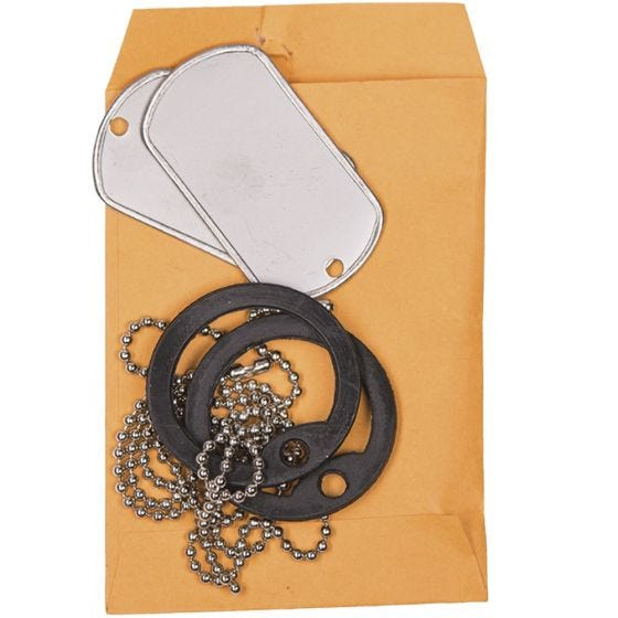 Mil-Tec US Original Dog Tag Set Polished With Silencer