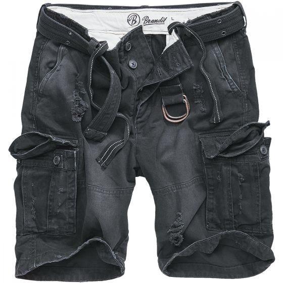 Brandit Shell Valley Heavy Vintage Shorts Black