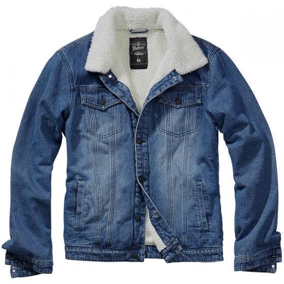 Brandit Sherpa Denim Jacket Blue/Off White