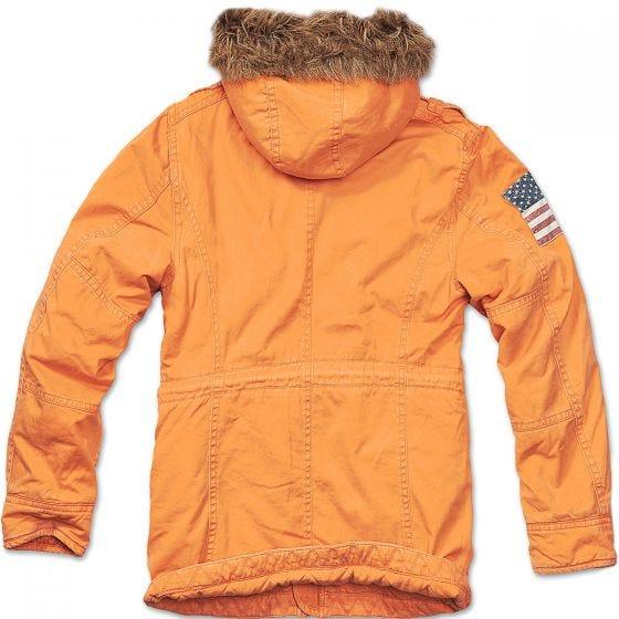 Brandit Vintage Explorer Stars & Stripes Jacket Orange