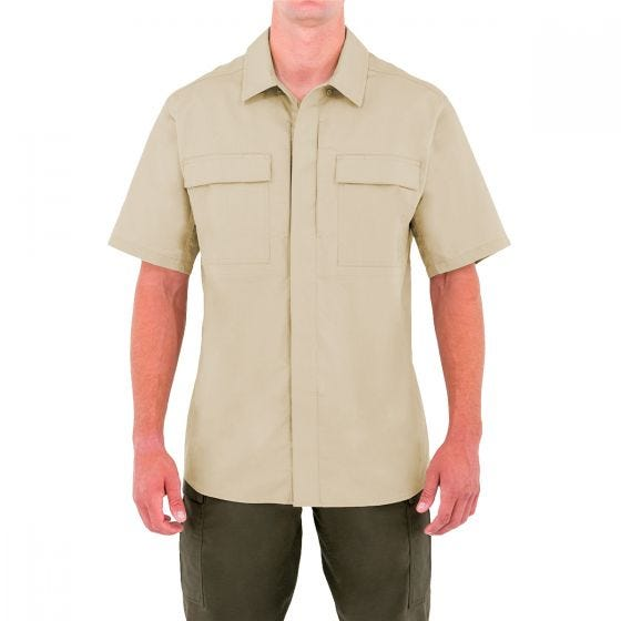 First Tactical Men's Specialist Short Sleeve BDU Shirt Khaki