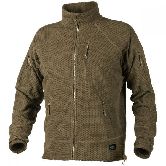 Helikon Alpha Tactical Grid Fleece Jacket Coyote
