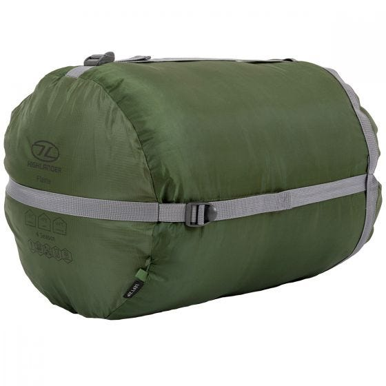 Highlander Phoenix Flame 400 Mummy Sleeping Bag Olive Green