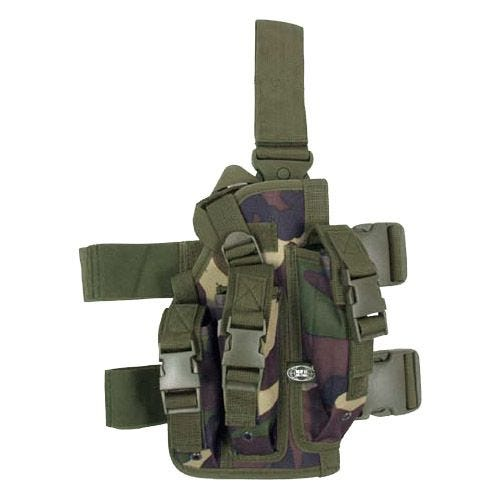 MFH Leg Holster with 3 Mag Pouches Woodland