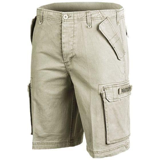 Paratrooper Cargo Shorts Prewashed Khaki