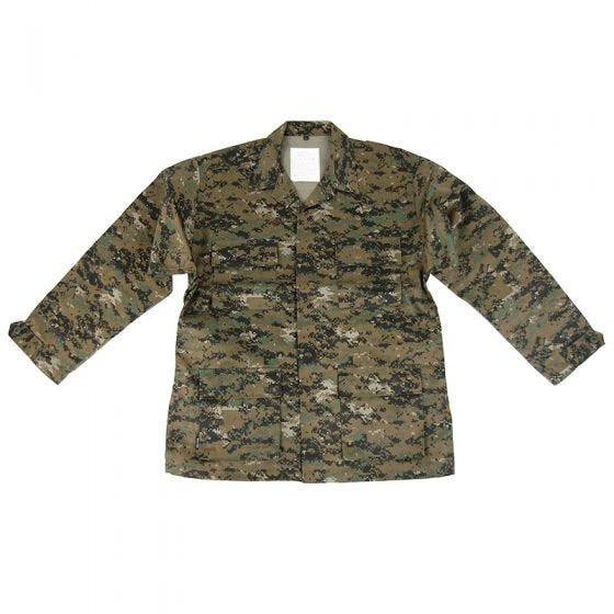 Mil-Tec BDU Combat Shirt Digital Woodland