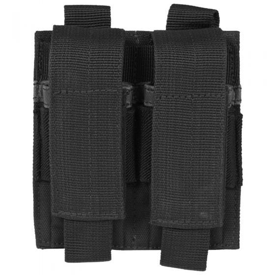 Mil-Tec Double Pistol Magazine Pouch Black