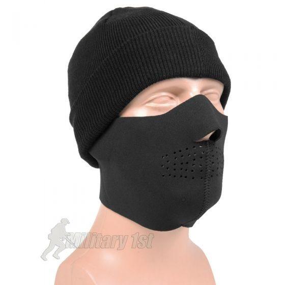 Mil-Tec Neoprene Half Face Mask Black