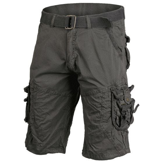 Mil-Tec Vintage Survival Shorts Prewashed Black