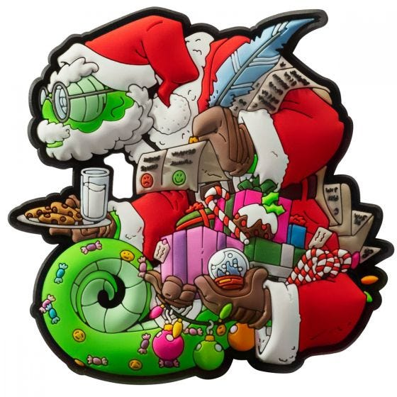Patchlab Chameleon Christmas Patch Red / Green