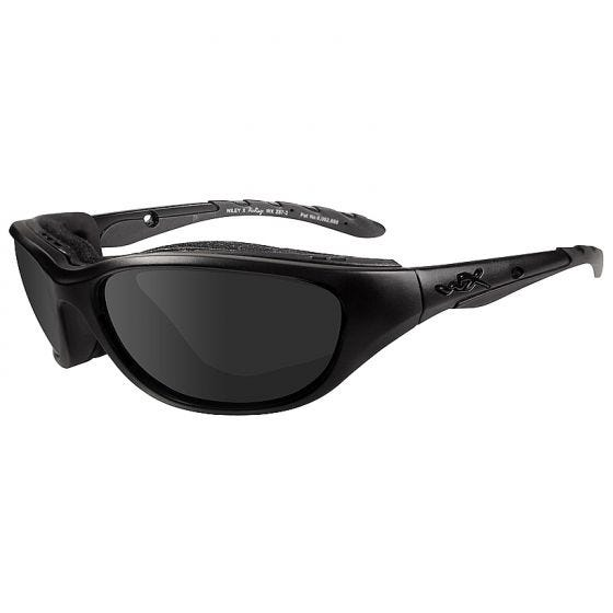 Wiley X Airrage Black Ops Glasses - Smoke Grey Lens / Matte Black Frame