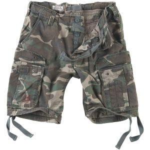 Surplus Airborne Vintage Shorts Washed Woodland