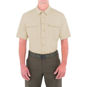 First Tactical Men's Specialist Short Sleeve Tactical Shirt Khaki