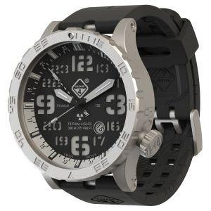 Hazard 4 Heavy Water Diver Titanium Tritium Watch Blacktie White GMT Blue/Red