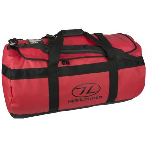 Highlander Lomond Tarpaulin 90L Duffle Bag Red