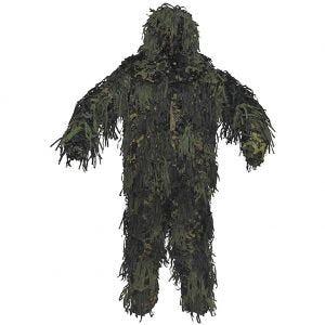 MFH Ghillie Jackal Suit 3D Body System Woodland