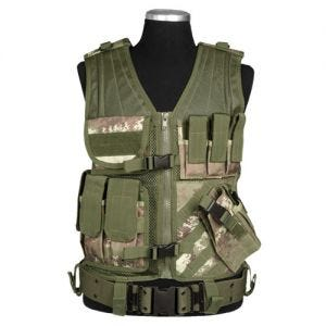 Mil-Tec USMC Tactical Vest Vegetato Woodland
