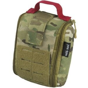 Mil-Tec Individual First Aid Kit Laser Cut Pouch Multitarn