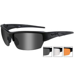 Wiley X WX Saint Glasses - Smoke + Clear + Light Rust Lens / Matte Black Frame