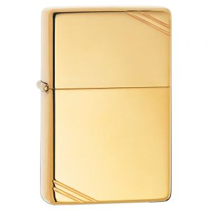 Zippo High Polish Vintage Brass Lighter