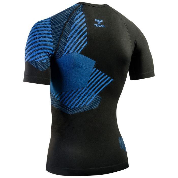 Tervel Optiline Shirt Short Sleeve Black/Blue