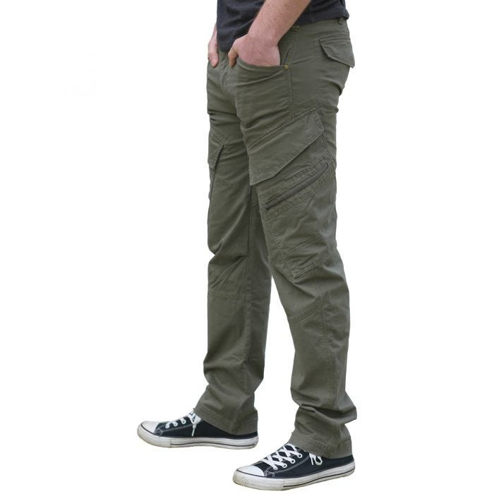 Brandit Adven Slim Fit Trousers Black