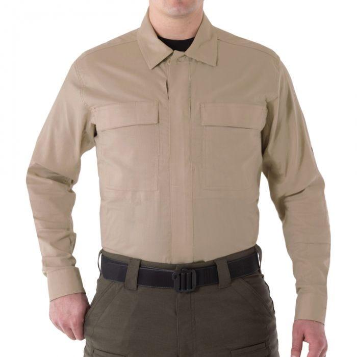 First Tactical Men's V2 Long Sleeve BDU Shirt Khaki
