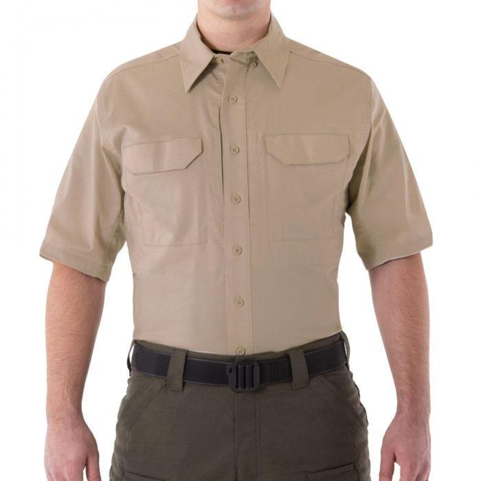 First Tactical Men's V2 Short Sleeve Tactical Shirt Khaki