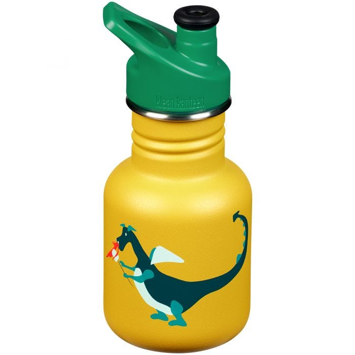 Klean Kanteen Kid Sport 355ml Bottle Sport Cap Dragon Snack