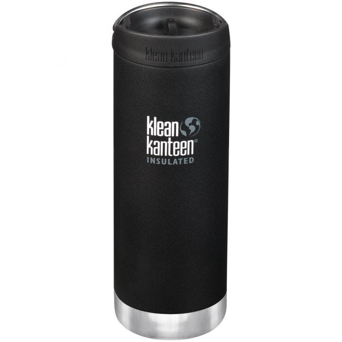 Klean Kanteen TKWide 473ml Insulated Bottle Cafe Cap 2.0 Shale Black