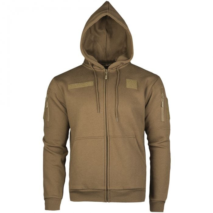 Mil-Tec Tactical Zipped Hoodie Dark Coyote