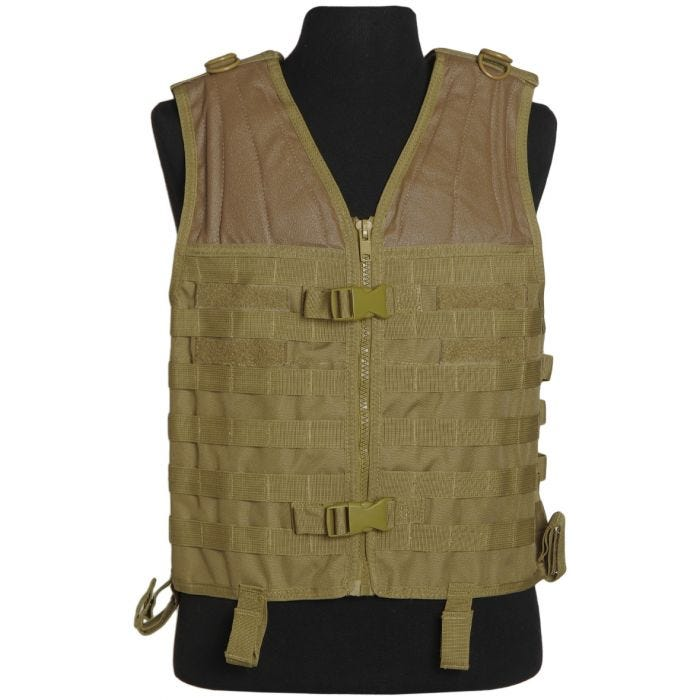 Mil-Tec MOLLE Carrier Vest Coyote