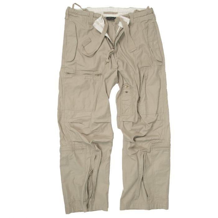 Mil-Tec Pilot Trousers Poplin Cotton Prewashed Khaki