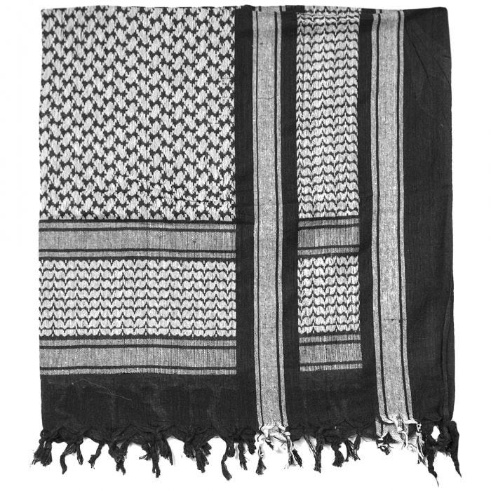Mil-Tec Shemagh Scarf Black / White