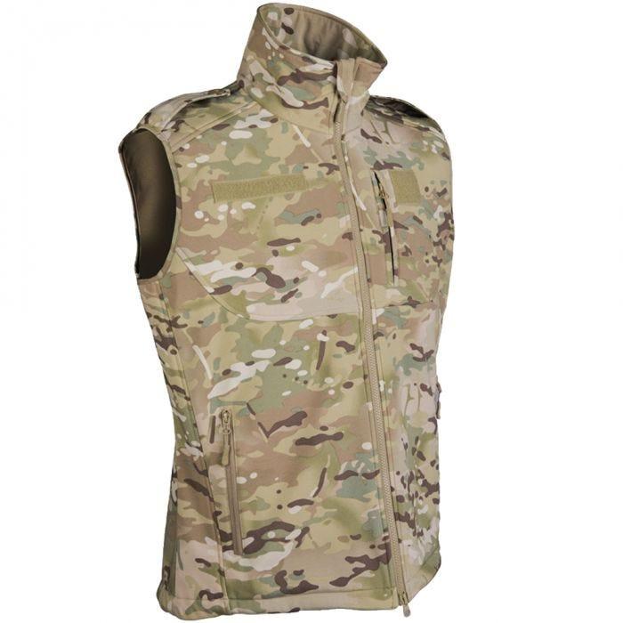 Mil-Tec Soft Shell Vest Multitarn