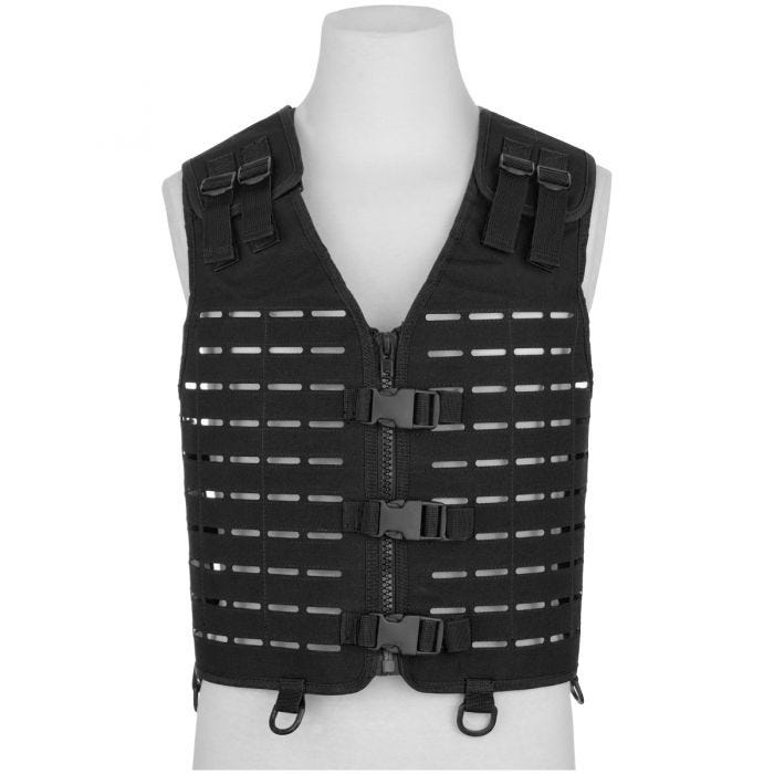 Mil-Tec Laser Cut Carrier Vest Black