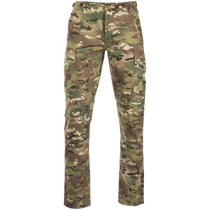 Teesar US BDU Trousers Ripstop SlimFit Multitarn