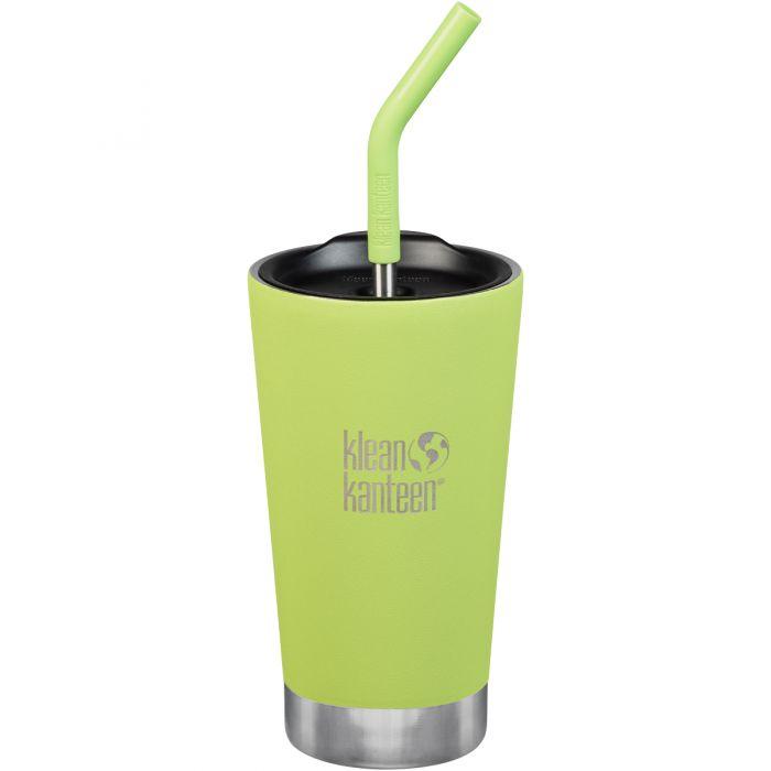 Klean Kanteen 473ml Tumbler Vacuum Insulated Straw Lid Juicy Pear