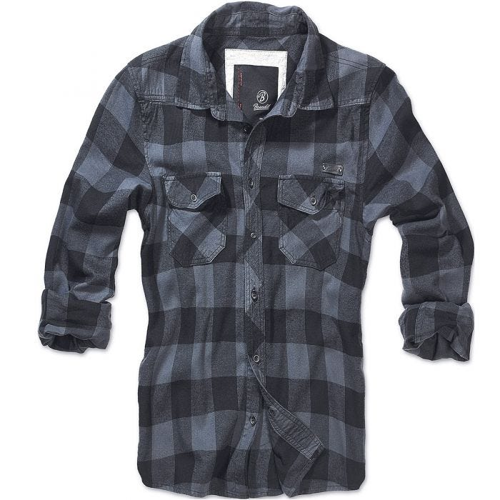 Brandit Check Shirt Black / Grey