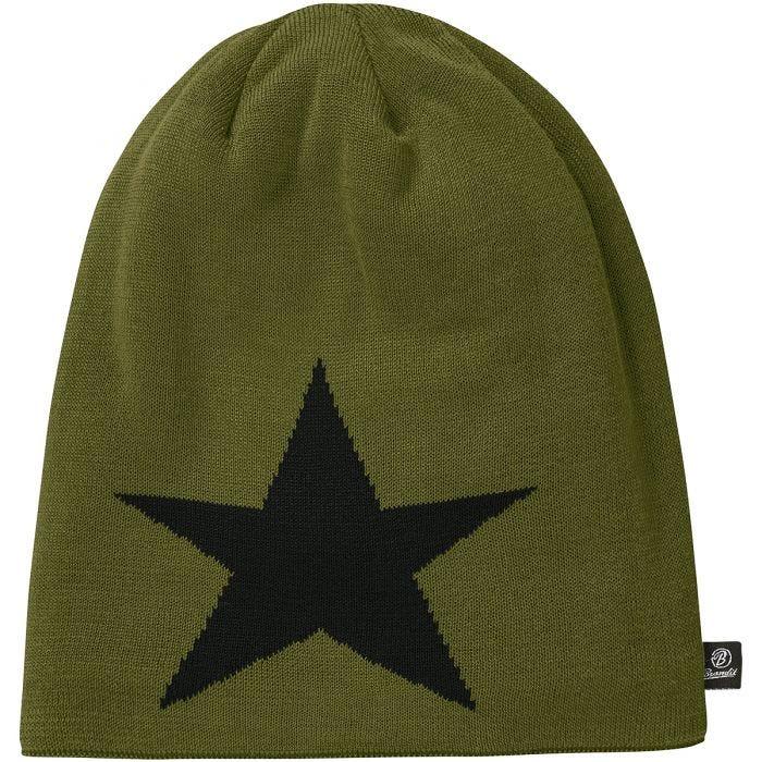 Brandit Beanie Star Cap Olive