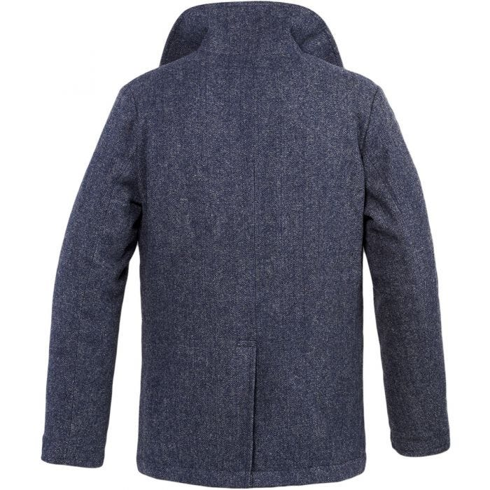 Brandit Pea Coat Denim Blue Herringbone