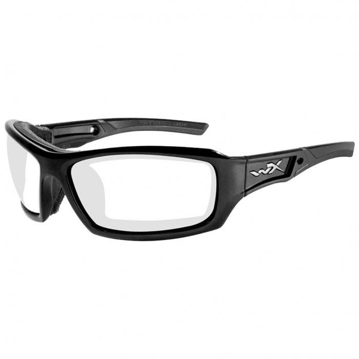 Wiley X WX Echo Glasses - Clear Lens / Gloss Black Frame