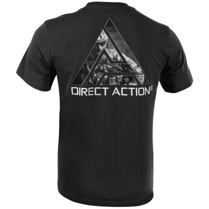 Direct Action Logo D.A. 3 T-shirt Black