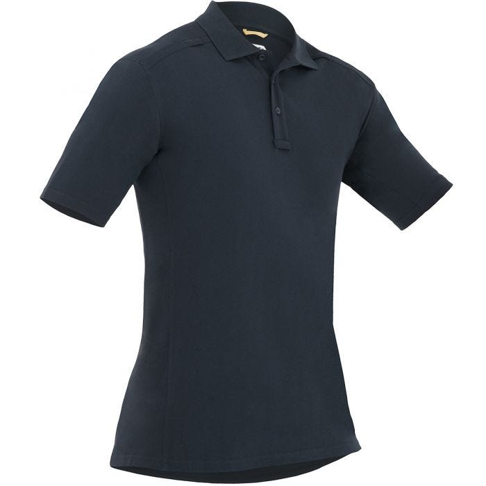 First Tactical Men's Cotton Short Sleeve Polo with Pen Pocket Midnight Navy