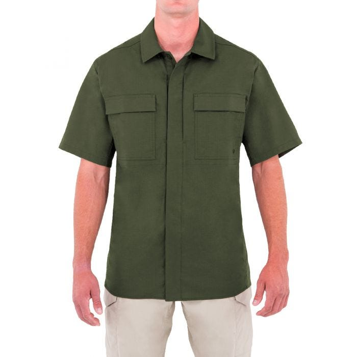 First Tactical Men's Specialist Short Sleeve BDU Shirt OD Green