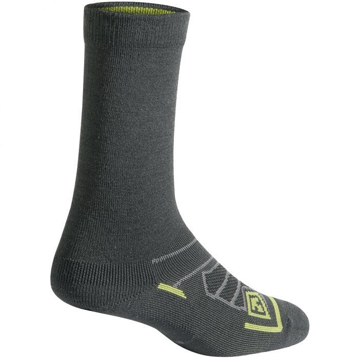 "First Tactical All Season Merino Wool 6"" Socks Charcoal"
